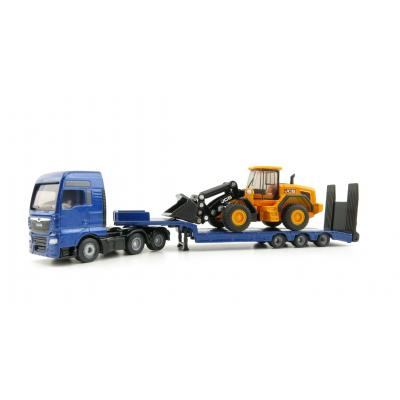 Siku 1790 - MAN TGX XXL Truck with Low Loader and JCB 457 Wheeled Loader  - Scale 1:87 - New Item 2020