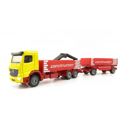 Siku 1797 Mercedes Benz Actros Building  Material Truck with Trailer and Crane Scale 1:87