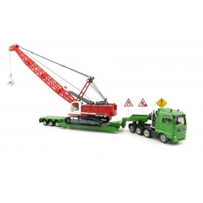 Siku 1834 - MAN T-GA Heavy Haulage Transporter with Liebherr Demolition Excavator and Signs New 2020  - Scale 1:87
