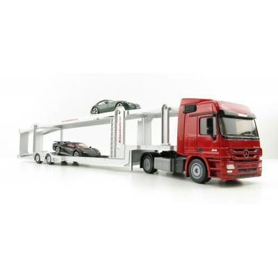 Siku 3934 - Mercedes Benz Car Transporter with Kaessbohrer Trailer (inc. 2 cars) - Scale 1:50