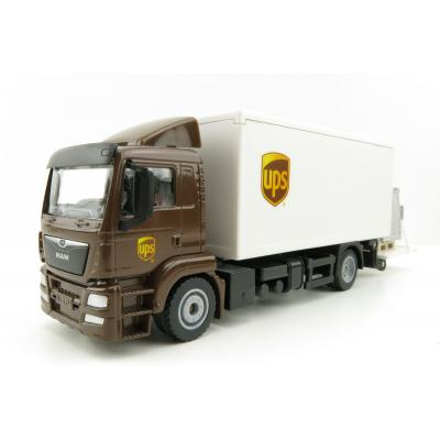 Siku 1997 - MAN TGS UPS Delivery Truck with Tail Lift - Scale 1:50