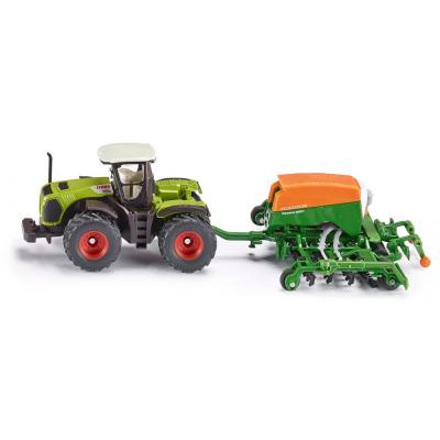 Siku 1826 - Claas Xerion 5000 tractor with  Amazone Cayenna 6001 - Scale1:87