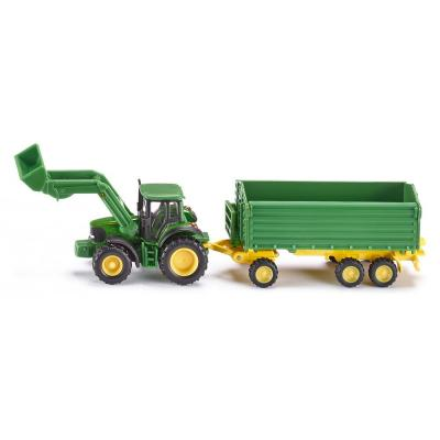 Siku 1843 - John Deere 6920 S Tractor With Front Loader and Trailer -  Scale 1:87