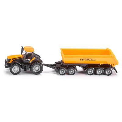 Siku 1858 - JBC 8250 Tractor with Dolly and Tipping Trailer - Scale 1:87