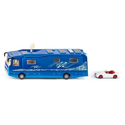 Siku 1943 - Volkner Mobil Performance Motor home Campervan Bus with Wiesmann Roadster MF5 - Scale 1:50