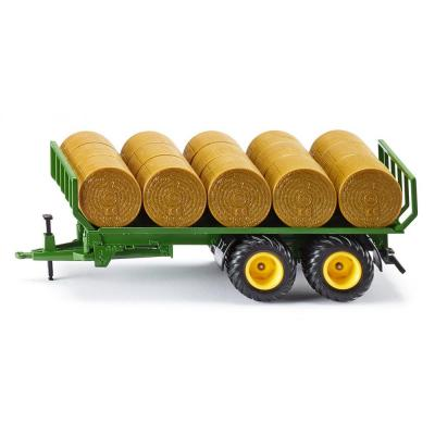 Siku 2891 - John Deere Trailer With Round Hay Bales - Scale 1:32