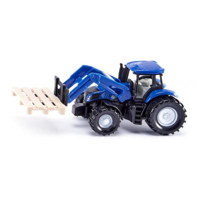 Siku 1487 New Hollland Frontloader Tractor with Forks and Palette