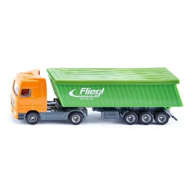Siku 1796 Mercedes Actros Truck with Fliegl Tipping Trailer with Cover Scale 1:87
