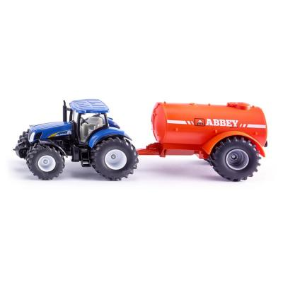 Siku 1945 New Holland Tractor with Abbey Single Axle Slurry Trailer Scale 1:50