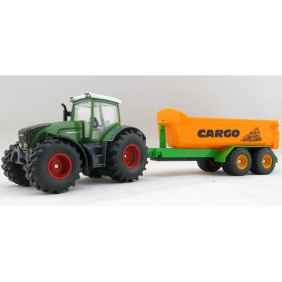 Siku 1989 - Fendt 936 Vario Tractor with Tandem Hook Lift Trailer - Scale 1:50 - New Item 2017