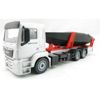 Siku 2715 - MAN TGS Truck with Frauscher 747 Mirage Motorboat - Scale 1:50