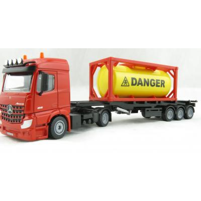 Siku 3922 - Mercedes-Benz Acros with Container Trailer and 20ft Tank Container - Scale 1:50