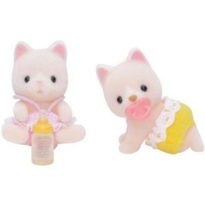 Sylvanian Families 5082 Silk Cat Twins