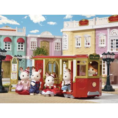Sylvanian Families 6007 Ride Along Tram - Town
