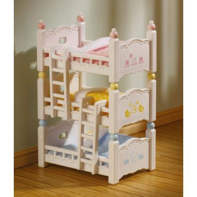 Sylvanian Families 4448- Triple Bunk Beds