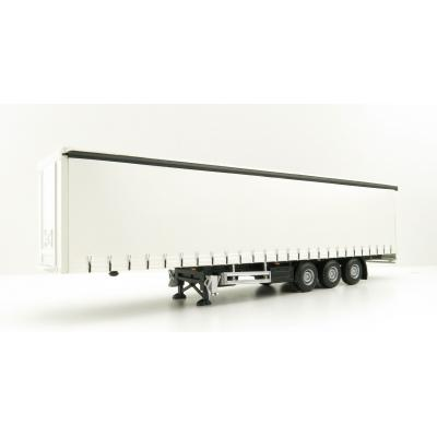 Tekno 21537 White Curtainside Trailer By Lion Toys - Scale 1:50
