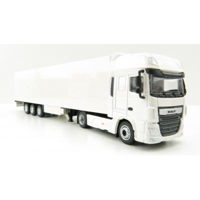 Tekno 21563 - DAF XF Euro 6 Truck with Semi 3-axle Reefer trailer White - Scale 1:87