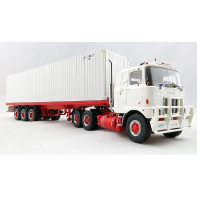 Tekno 72620 - Australian Mack F700 Prime Mover with 3 Axle Trailer and 40 ft Container - Scale 1:50