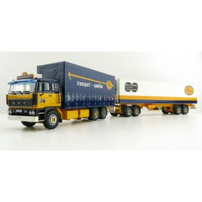 Tekno 74199 DAF 2800 Curtainside Truck with Reefer Trailer Sweden Combo - ASG - Scale 1:50