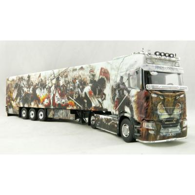 Tekno 74558 Scania S520 Truck with Reefer Trailer Heide Logistik Lionheart Knights - Scale 1:50