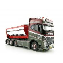Tekno 75192 Volvo FH04 Globetrotter Truck 4axle with Hookarm and Asphalt Container - Vognmand Soren Nielsen - Scale 1:50