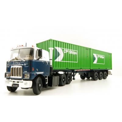 Tekno 81194 Mack F700 6x4 Truck Groenenboom with Container Trailer 2x 20ft Container CP Ships - Scale 1:50