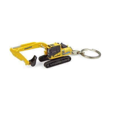 Universal Hobbies UH5852 Komatsu HB215 Hybrid Excavator Diecast Keyring