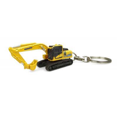 Universal Hobbies UH5853 Komatsu HB205 Hybrid Excavator Diecast Keyring