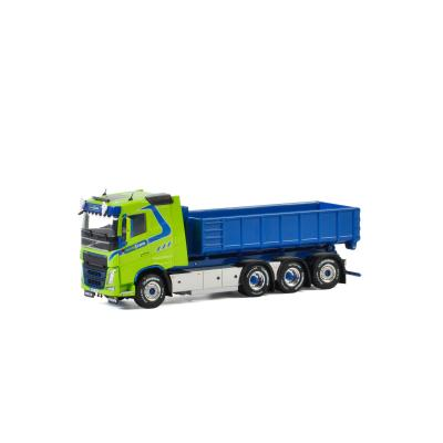 WSI 01-2656 Volvo FH4 Sleeper CAB 8x4  Hooklift System + Hooklift Container 15M3 - Nordic Crane - Scale 1:50