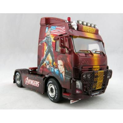 WSI 01-2862 Volvo FH3 Globetrotter 4x2 Showtruck Marvel Avengers Transport Beau - Scale 1:50