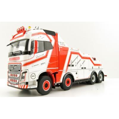 WSI 01-3294 Volvo FH4 Globetrotter 8x4 Falkom Wrecker Truck - Depannage Coeman - Scale 1:50