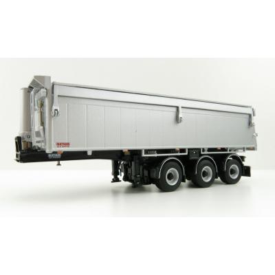 WSI 03-1003 - Bulthuis Asphalt and Sand 3-Axle Alu Kipper Steerable Trailer - Scale 1:50