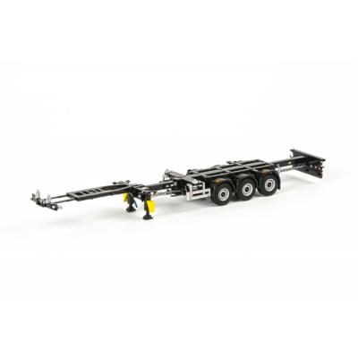 WSI 03-1010 3-Axle Container Chassis Trailer - White Line - Scale 1:50