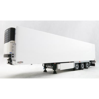 WSI 03-1071 3-Axle CHEREAU Reefer Box Trailer with Carrier Cooling Unit White Scale 1:50
