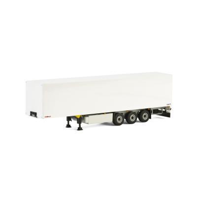 WSI 03-1072 Schmitz Cargobull 3 axle Box Trailer White - Scale 1:50