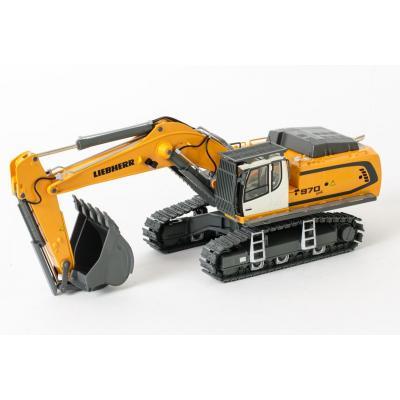 WSI 04-1047 - Liebherr R970 SME Tracked Excavator Yellow - Scale 1:50