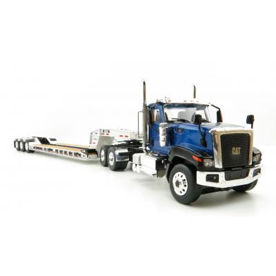 WSI 39-1004 Caterpillar CAT CT680 6X4 BLUE ROGER LOWBOY 3-AXLE - Scale 1:50