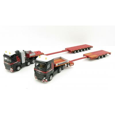 WSI 410103 - Mammoet 1:87 Set II Volvo FH4 XL 8x4 , Mercedes MP4 and Low Loader - Scale 1:87