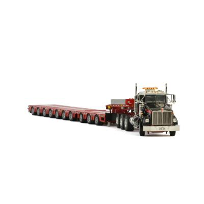 WSI 410232 Mammoet - Kenworth T800 8X4 Truck with Lowloader - 7  Axle & Dolly - 3 Axle - Scale 1:50