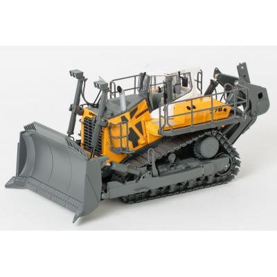 WSI 64-2000 - Liebherr PR 776 Litronic Tracked Dozer with Ripper Yellow - Scale 1:50