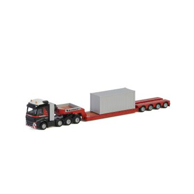 WSI 900033 - Mammoet Volvo FH4 GLOBETROTTER XL 8x4 LOWLOADER - 4 AXLE + 20 FT CONTAINER - Scale 1:87