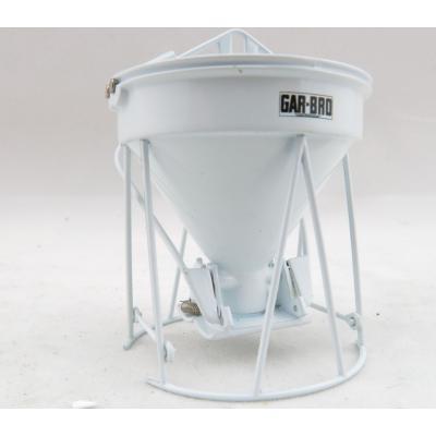 Weiss Brothers WBR002-1900 - Garbro Concrete Bucket - Round Gate - White - Scale 1:50