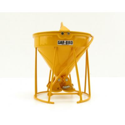 Weiss Brothers WBR002-1902 - Garbro Concrete Bucket - Round Gate - Yellow - Scale 1:50