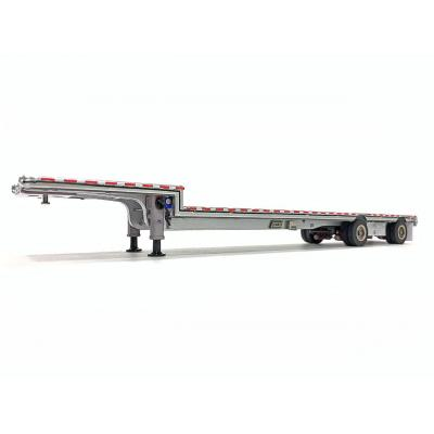 Weiss Brothers WBR027-1701 - East Drop Deck Trailer - Aluminum Silver with Accessories - Scale 1:50