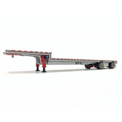 Weiss Brothers WBR027-1702 - East Drop Deck Trailer - Aluminum Red with Accessories - Scale 1:50