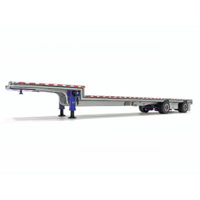 Weiss Brothers WBR027-1703 - East Drop Deck Trailer - Aluminum Blue with Accessories - Scale 1:50