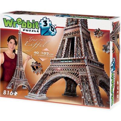 Wrebbit 02009 - La Tour Eiffel 3D Puzzle 816 pieces