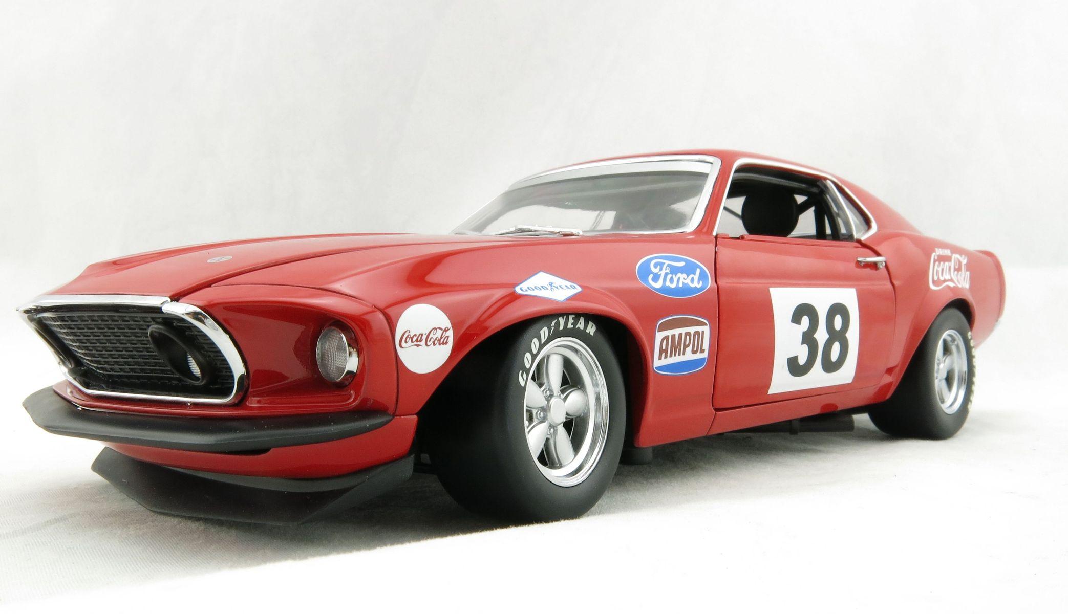 Details about dda acme 1969 ford boss 302 trans am mustang alan moffat racing coca cola 118