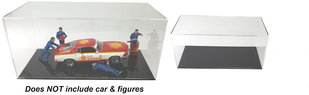 EXCLUSIV CARS MADE IN GERMANY CLEAR DISPLAY SHOW CASE FOR 1//18 DIECAST MODEL CAR