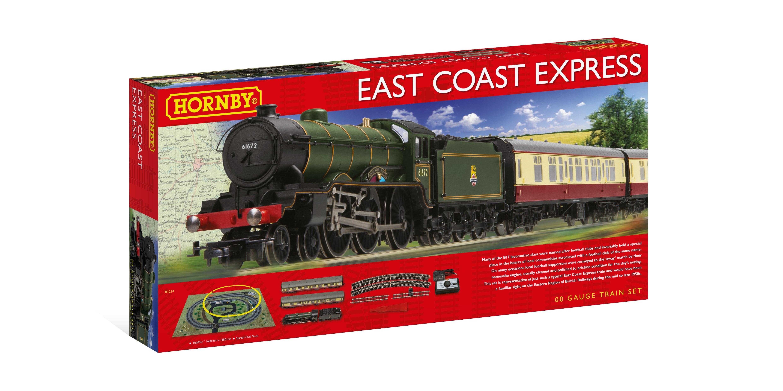 Hornby R1214 East Coast Express Electric Train Set Oo Gauge Steam Loco Dcc Ready